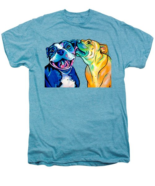 Pitbull Kisses Men's Premium T-Shirt by Abbi Kay