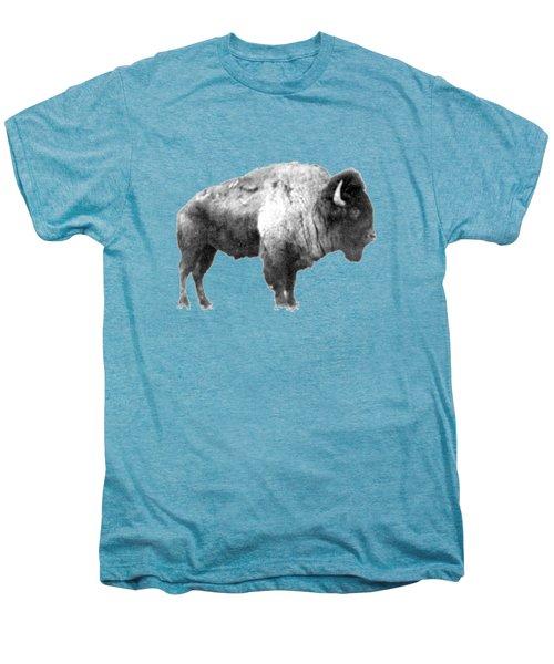 Plains Bison Men's Premium T-Shirt by Jim Sauchyn