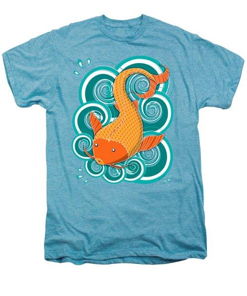 Playing Koi Men's Premium T-Shirt by Shawna Rowe