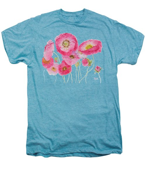 Poppy Painting On White Background Men's Premium T-Shirt by Jan Matson