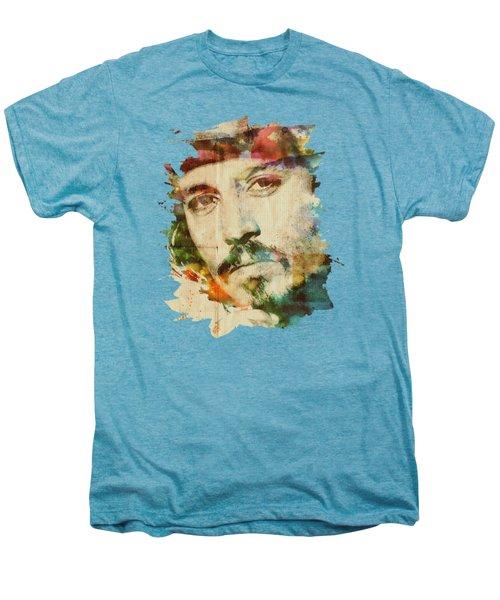 Portrait Of Johnny Men's Premium T-Shirt by Maria Arango