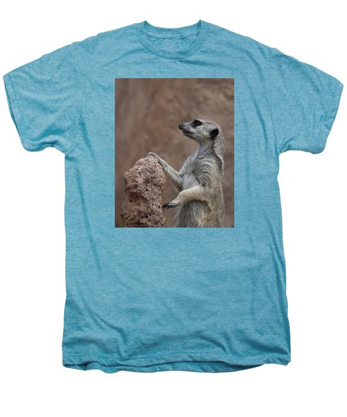 Pose Of The Meerkat Men's Premium T-Shirt by Ernie Echols