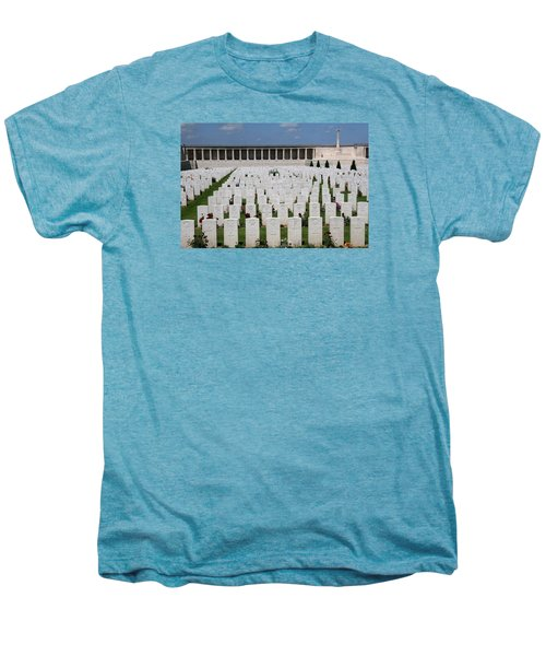 Men's Premium T-Shirt featuring the photograph Pozieres British Cemetery by Travel Pics