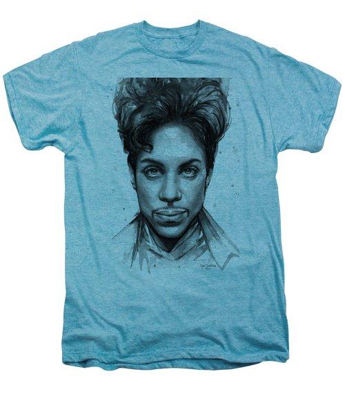 Prince Watercolor Portrait Men's Premium T-Shirt by Olga Shvartsur