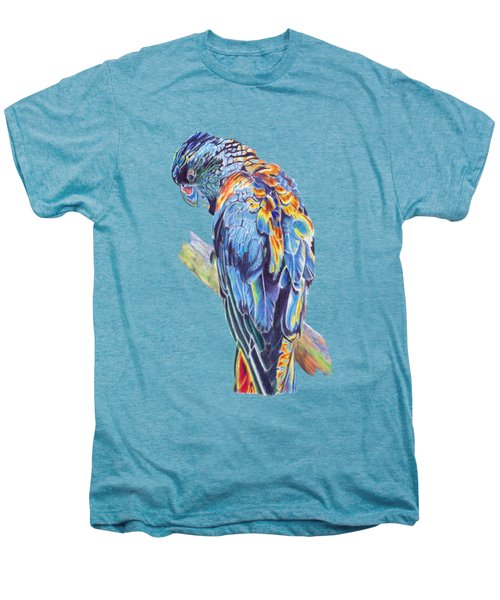 Psychedelic Parrot Men's Premium T-Shirt by Lorraine Kelly