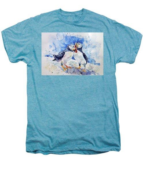 Puffins Men's Premium T-Shirt by Kovacs Anna Brigitta