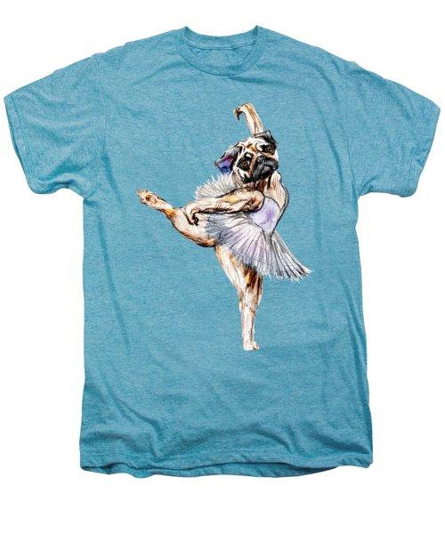 Pug Ballerina Dog Men's Premium T-Shirt by Notsniw Art