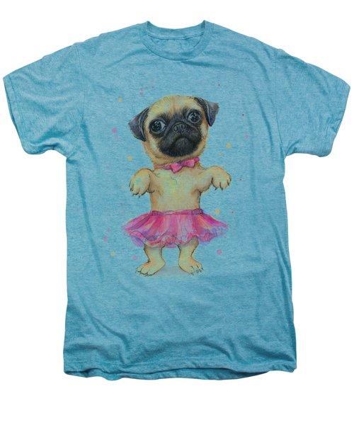 Pug In A Tutu Men's Premium T-Shirt by Olga Shvartsur