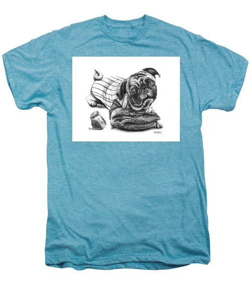 Pug Ruth  Men's Premium T-Shirt by Peter Piatt