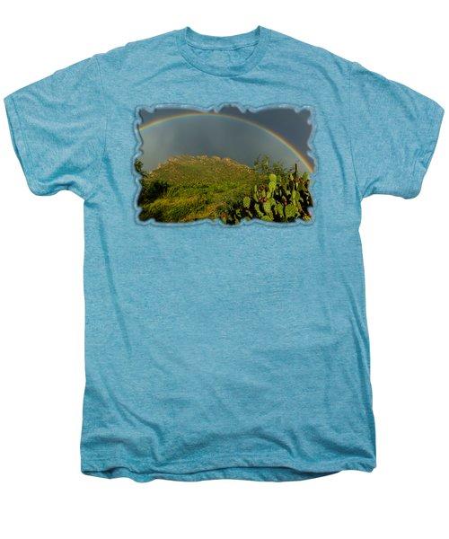 Pusch Ridge Rainbow H38 Men's Premium T-Shirt by Mark Myhaver