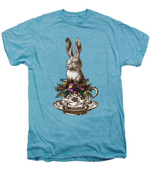 Rabbit In A Teacup Men's Premium T-Shirt by Eclectic at HeART