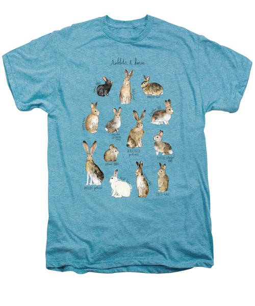 Rabbits And Hares Men's Premium T-Shirt by Amy Hamilton