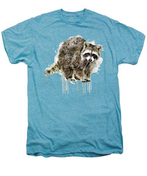 Raccoon Men's Premium T-Shirt by Marian Voicu