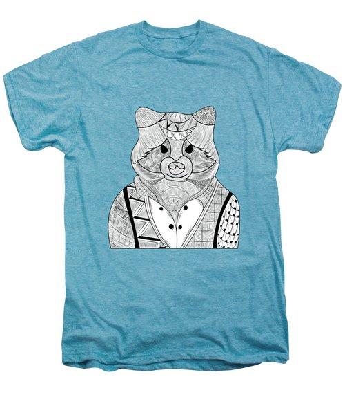 Raccoon Men's Premium T-Shirt by Serkes Panda