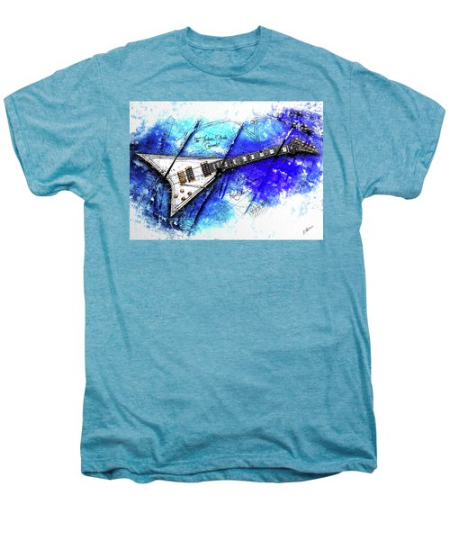 Randy's Guitar On Blue II Men's Premium T-Shirt by Gary Bodnar