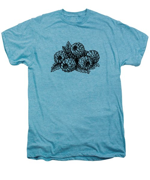Raspberries Image Men's Premium T-Shirt by Irina Sztukowski