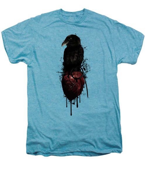 Raven And Heart Grenade Men's Premium T-Shirt by Nicklas Gustafsson