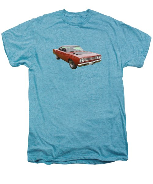 Red 1968 Plymouth Roadrunner Muscle Car Men's Premium T-Shirt by Keith Webber Jr