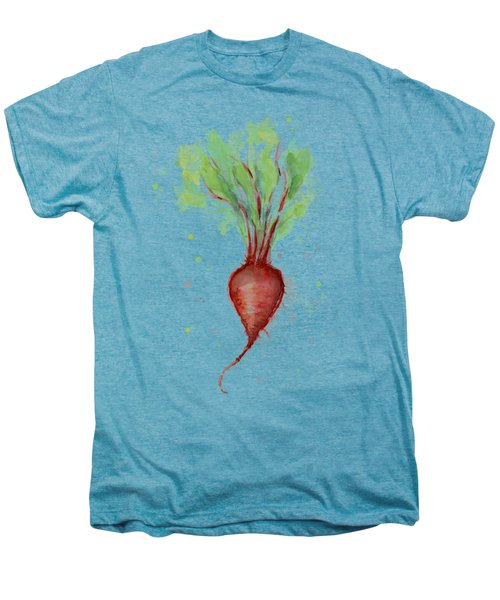 Red Beet Watercolor Men's Premium T-Shirt by Olga Shvartsur