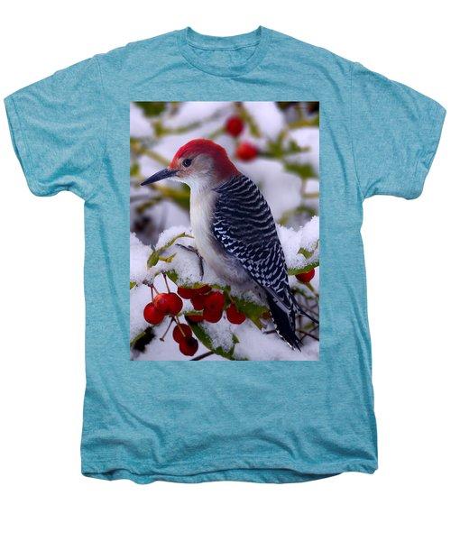 Red Bellied Woodpecker Men's Premium T-Shirt by Ron Jones