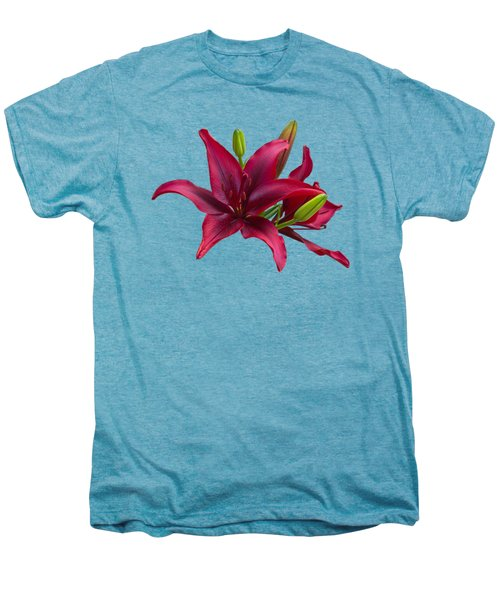 Red Lilies Men's Premium T-Shirt by Jane McIlroy