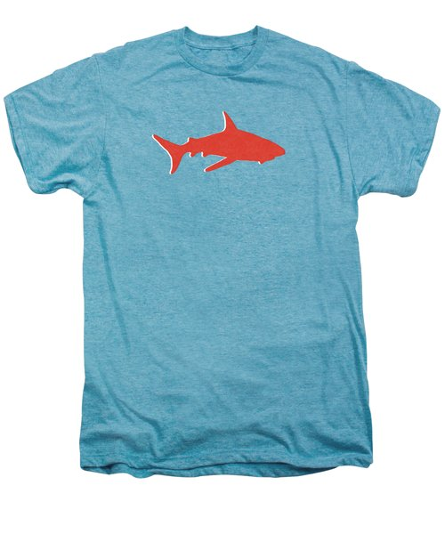 Red Shark Men's Premium T-Shirt by Linda Woods