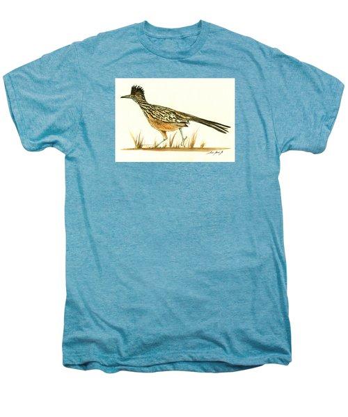 Roadrunner Bird Men's Premium T-Shirt by Juan Bosco