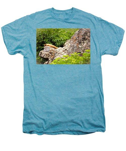 Rock Chuck Men's Premium T-Shirt by Lana Trussell