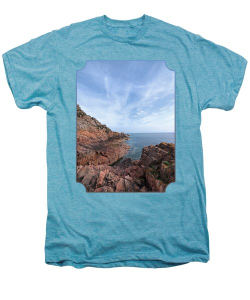 Rocky Ocean Inlet - Jersey Men's Premium T-Shirt by Gill Billington