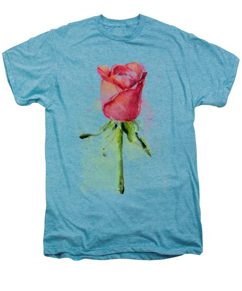 Rose Watercolor Men's Premium T-Shirt by Olga Shvartsur