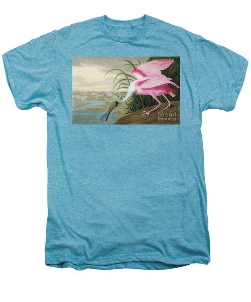Roseate Spoonbill Men's Premium T-Shirt by John James Audubon