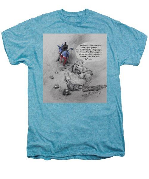 Rush Limbaugh After Obama  Men's Premium T-Shirt by Ylli Haruni