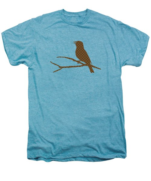 Rustic Brown Bird Silhouette Men's Premium T-Shirt by Christina Rollo