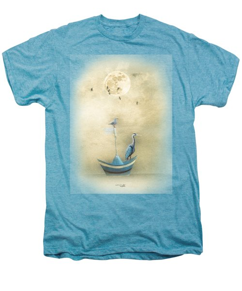 Sailing By The Moon Men's Premium T-Shirt by Chris Armytage
