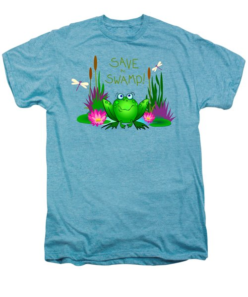 Save The Swamp Twitchy The Frog Men's Premium T-Shirt by M Sylvia Chaume