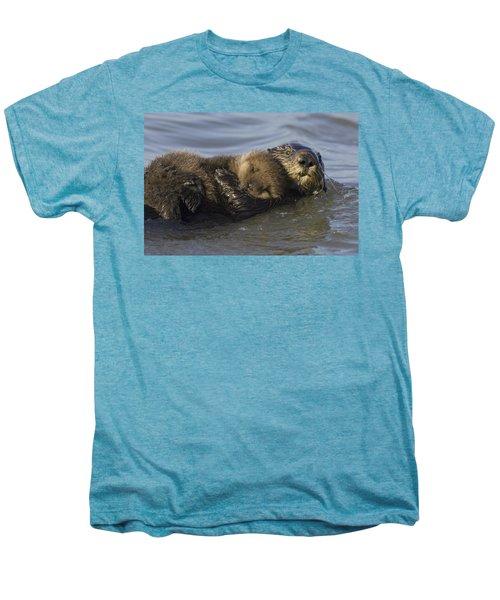 Sea Otter Mother With Pup Monterey Bay Men's Premium T-Shirt by Suzi Eszterhas