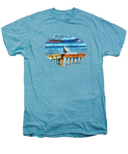 Seagull In Astoria  Men's Premium T-Shirt by Thom Zehrfeld