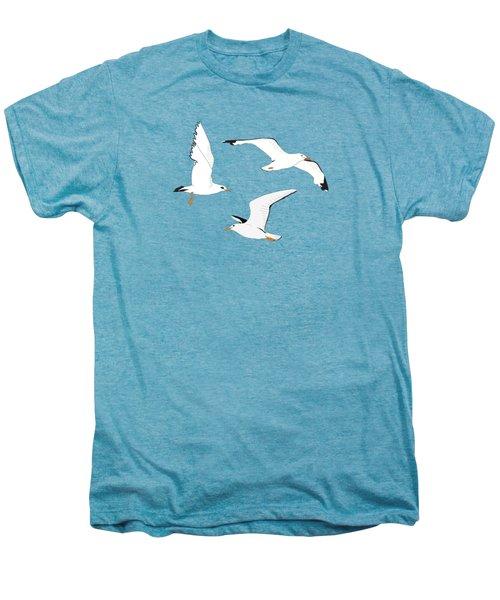 Seagulls Gathering At The Cricket Men's Premium T-Shirt by Elizabeth Tuck