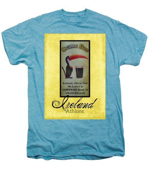 Seans Bar Guinness Pub Sign Athlone Ireland Men's Premium T-Shirt by Teresa Mucha