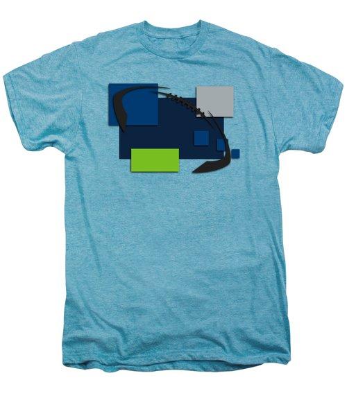 Seattle Seahawks Abstract Shirt Men's Premium T-Shirt by Joe Hamilton