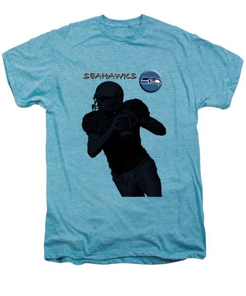 Seattle Seahawks Football Men's Premium T-Shirt by David Dehner