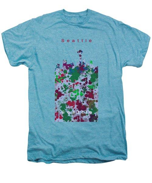 Seattle Skyline .3 Men's Premium T-Shirt by Alberto RuiZ