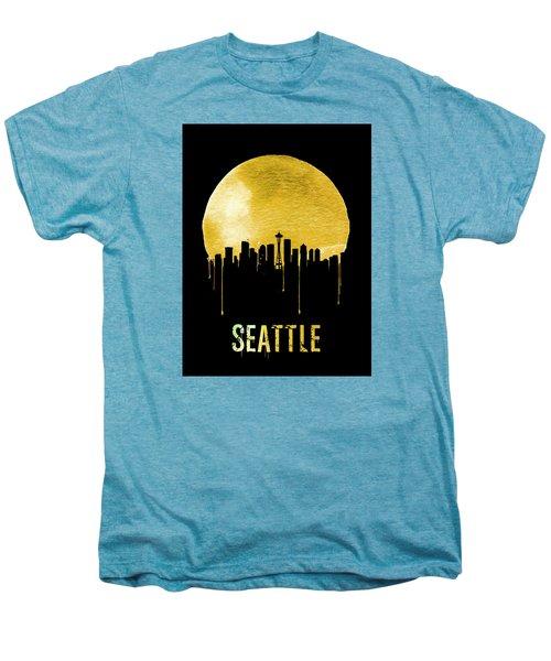 Seattle Skyline Yellow Men's Premium T-Shirt by Naxart Studio