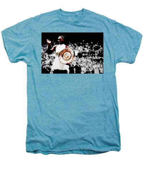 Serena 2016 Wimbledon Victory Men's Premium T-Shirt by Brian Reaves