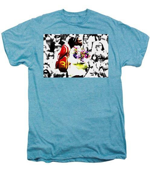 Serena Williams 2f Men's Premium T-Shirt by Brian Reaves
