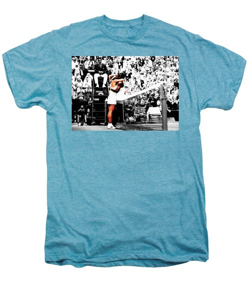 Serena Williams And Angelique Kerber 1a Men's Premium T-Shirt by Brian Reaves