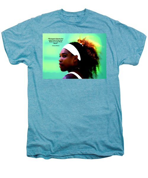 Serena Williams Motivational Quote 1a Men's Premium T-Shirt by Brian Reaves