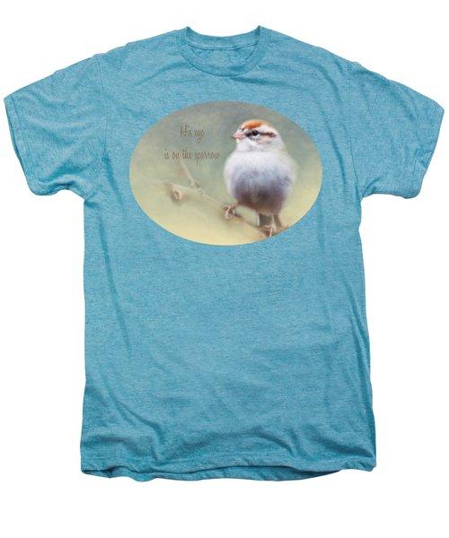 Serendipitous Sparrow - Quote Men's Premium T-Shirt by Anita Faye