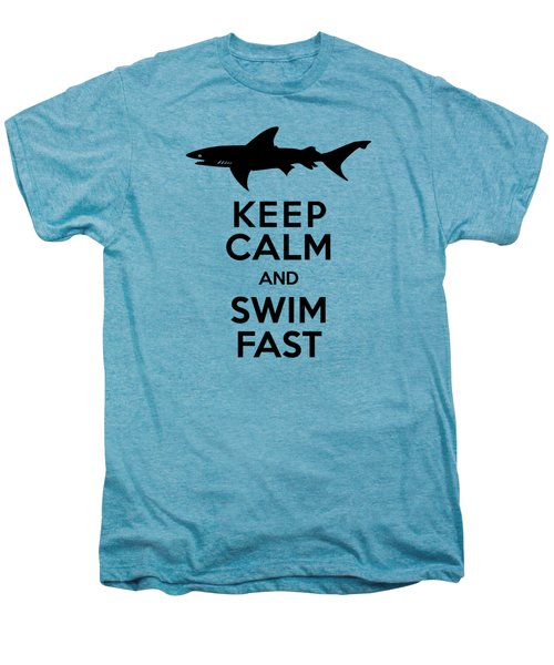 Sharks Keep Calm And Swim Fast Men's Premium T-Shirt by Antique Images