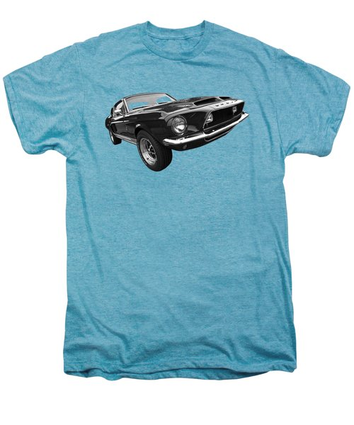 Shelby Gt500kr 1968 In Black And White Men's Premium T-Shirt by Gill Billington